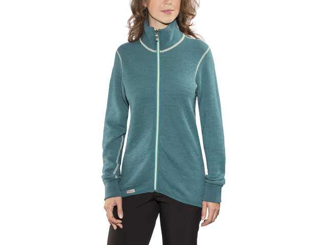 Woolpower 400 Colour Collection Full-Zip Jacket petrol/champagne